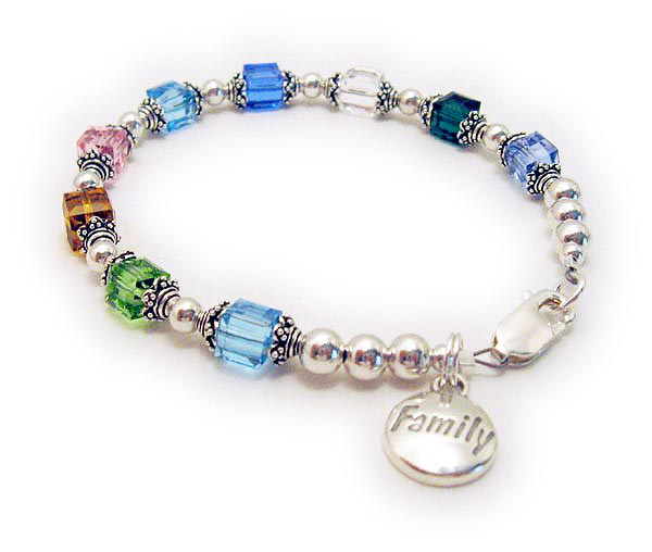 DBL-BB1-1 String Bracelet Enter: Mar Aug Nov Oct Mar Sep Apr May Dec Shown with a lobster claw clasp and a free FAMILY charm.