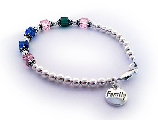 JBL-BB1-1	String Bracelet  Enter: Oct, May, Oct, Sep, Sep, Oct Shown with a lobster claw clasp and a free FAMILY charm.