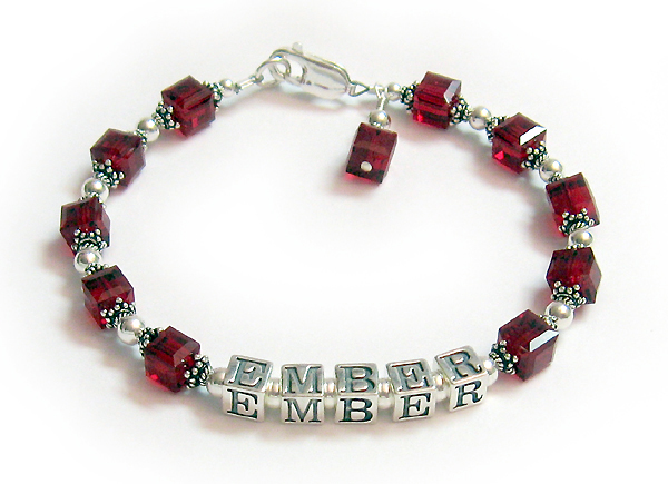 JBL-C2-1	String Bracelet Enter: EMBER/July They added a July Birthstone Crystal Dangle.