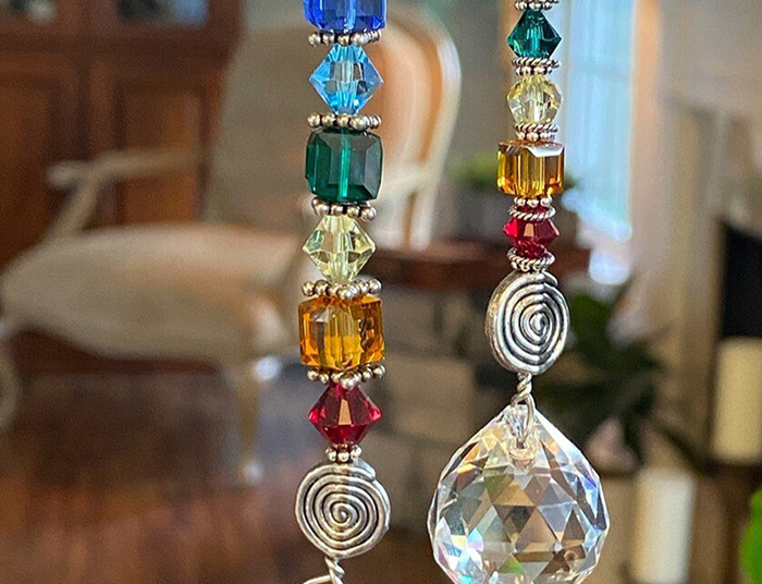 Chakra Crystal Faceted Sun Catchers