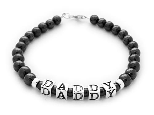 Magnetic Daddy Bracelet with daddy or your kids' names on it. DB-Mag1