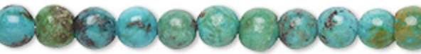 Turquoise is said to provide protection and is a grounding stone and known to aid in fertility.