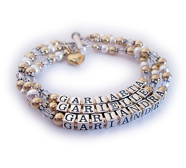 Enter: GARIARTA/Apr - GARIELLE/Apr - GARIANDRA/Apr They choose a 3-string slide clasp and added a Puffed Heart Charm.