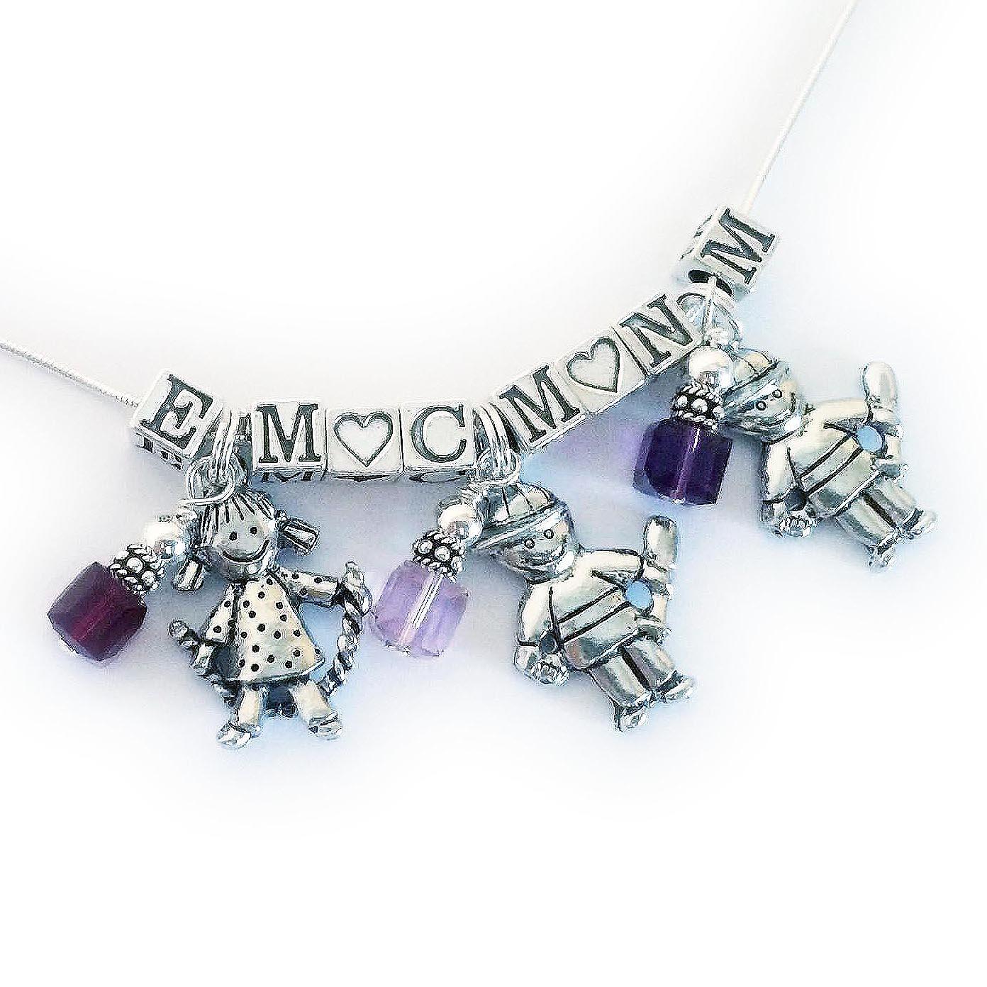 Boy Charm Necklace - JBL-CC-N1-2 boys charm and 1 girl charm