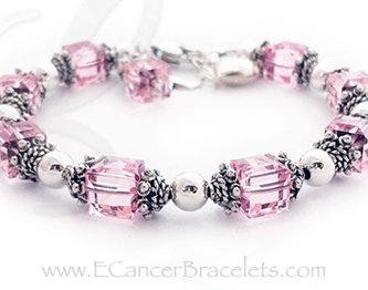 Breast Cancer Awareness Bracelet with a Heart