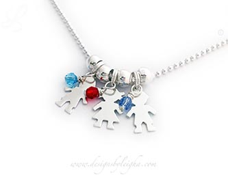 Kid Birthstone and Charm Necklace www.DesignsByLeigha.com