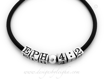 Ephesians 4:2 A Bible Verse Bracelet for Valentine's Day Gifts