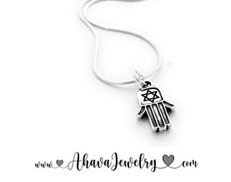 Hamsa Hand or Chamsa Charm Necklace for Bubby