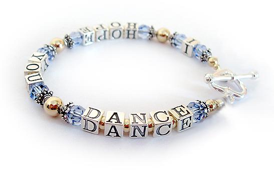 Gold I Hope You Dance Bracelet Choose The Message