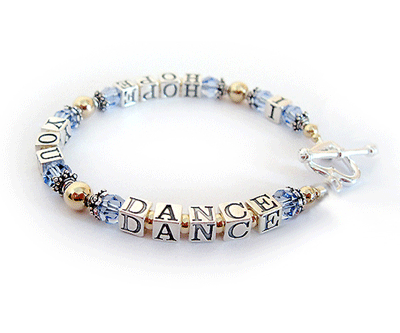 Gold I Hope You Dance Message Bracelet