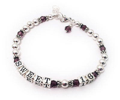 Sweet 16 bracelet with a charm.