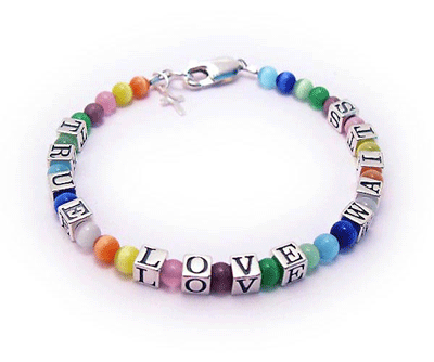 TRUE LOVE WAITS bracelet for girls