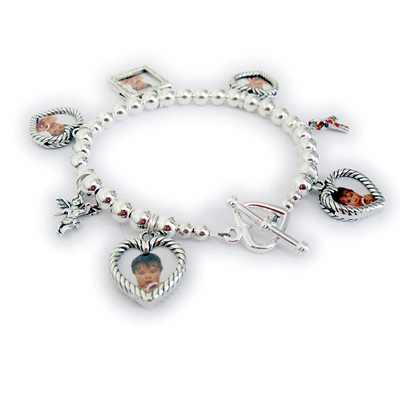 Photo Charm Bracelets For Mommy Picture Frame Charm Bracelet