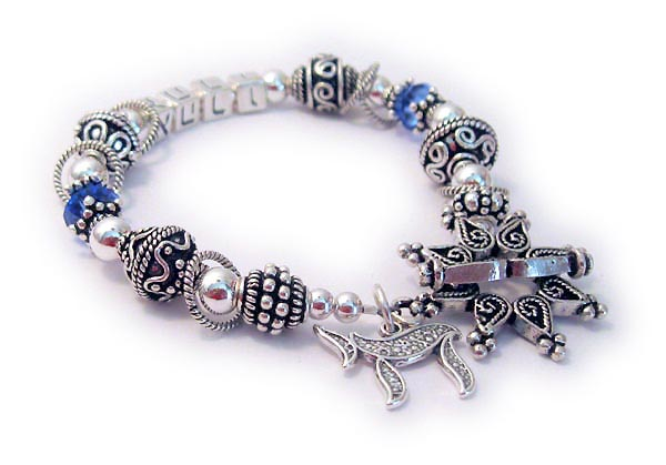 JBL-SS3	String Bracelet Enter: Name in Hebrew/September They added a Star Clasp and a Chai charm.