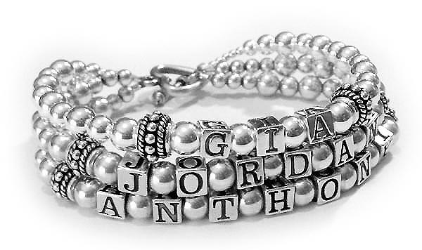 JBL-S2-3	String Bracelet Gia, Jordan and Anthony 3-string Mother Bracelet with an upgraded Heart Toggle Clasp.