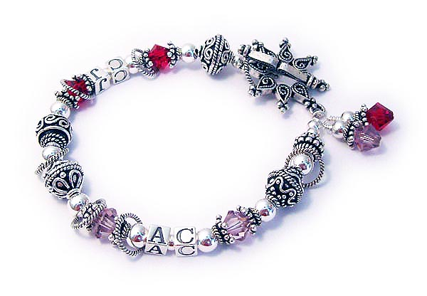 JBL-SS3	String Bracelet Enter: CJ/July - AC/June to order a bracelet like this one. They upgraded to the Star Clasp and added 2 birthstone crystal dangles.