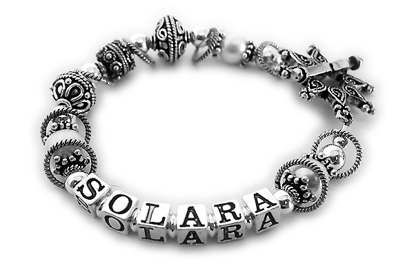 JBL-SS3	String Bracelet Enter SOLARA/no crystals. They upgraded to the Star toggle clasp.