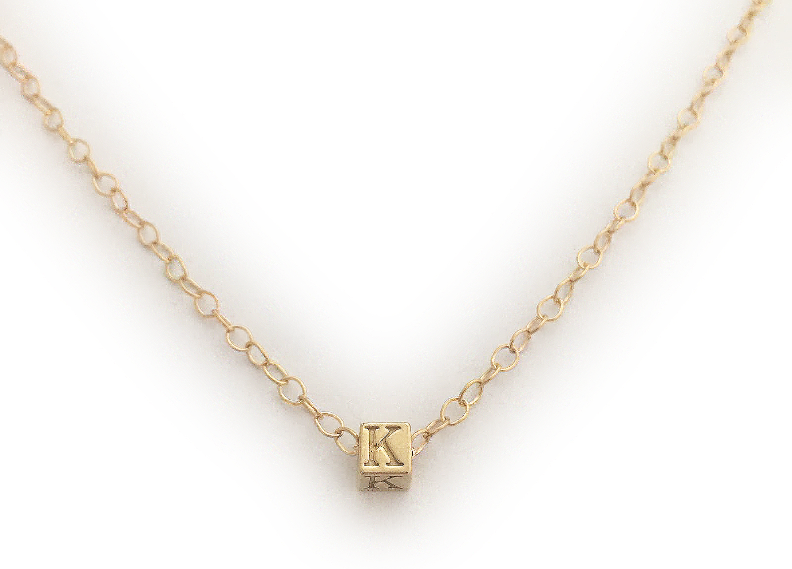 Gold Name Necklaces - Gold Initial Necklace or Gold Monogram Necklaces