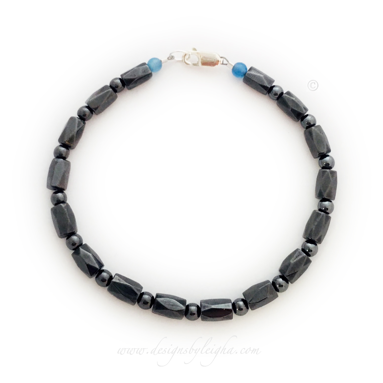 Magnetic Cancer Survivor Daddy Bracelet shown with Prostate Cancer Beads