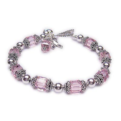 Large Breast Cancer Awareness Bracelet - JBL-R34